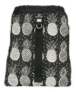 Dolce & Gabbana | Pineapple Print Drawstring Backpack Calf Leather/Acrylic/Nylon