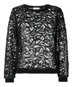 SI-JAY | Sequined Lace Top Women 40