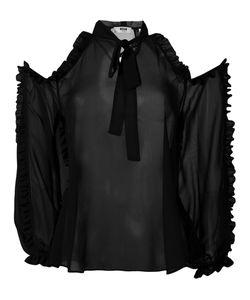 MSGM | Блузка С Открытыми Плечами И Оборками