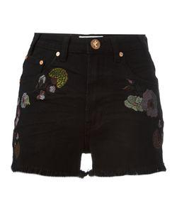 One Teaspoon   Birds Of Paradise Embroidered Denim Shorts 27