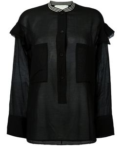 8pm | Contrast Collar Pocket Shirt Xs