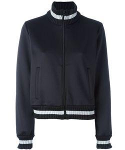OFF-WHITE | Contrast Stripe Bomber Jacket Large Polyester/Spandex/Elastane/Cotton/Polyamide