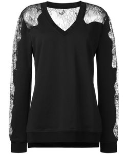 Mcq Alexander Mcqueen | Lace Panels Sweatshirt Medium Cotton/Polyester/Polyamide/Viscose