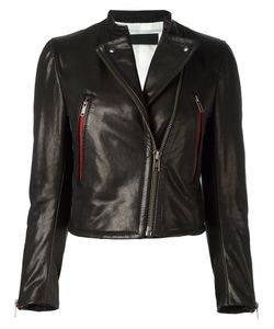 Haider Ackermann | Zipped Biker Jacket 36 Leather/Cotton/Silk/Rayon