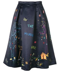 Mira Mikati | Printed Satin Skirt Women