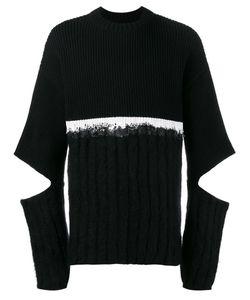 HELEN LAWRENCE | Split Sleeve Jumper Large Polyamide/Mohair/Wool/Lambs Wool