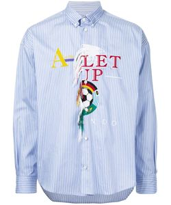 Doublet | Embroidered Striped Shirt Men L
