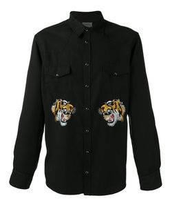 Laneus | Embroidered Tiger Shirt Size 46