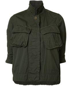 Sacai   Cropped Military Jacket Size