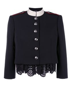 Alexander McQueen | Military Lace Insert Jacket 42 Virgin