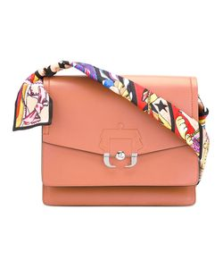 Paula Cademartori | Printed Strap Shoulder Bag Leather