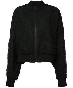 Vera Wang | Sheer Back Lace Bomber Jacket 2