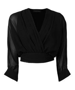 Christian Pellizzari | Sheer Sleeve Wrap Shirt Size 44