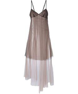 Quetsche | Платье Со Вставкой Из Тюля
