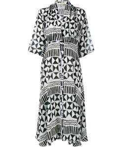 Tata Naka | Maria Alexan Geometric Print Silk Dress
