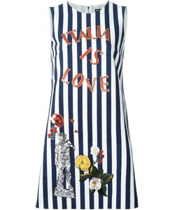 Dolce & Gabbana | Italia Embroidery Striped Dress