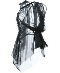 Rick Owens Lilies | Блузка Shortsleeve Sheer Zip