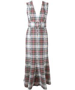 TARO HORIUCHI | Checked Midi Dress