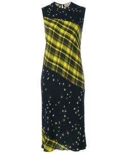 Preen Line   Sleeveless Tartan And Print Dress