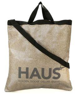HAUS | Блестящая Сумка-Тоут С Принтом Логотипа