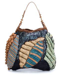 Jamin Puech   Papaver Leaf Woven Bag