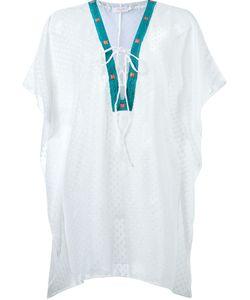 Brigitte | V-Neck Embroidered Breach Dress