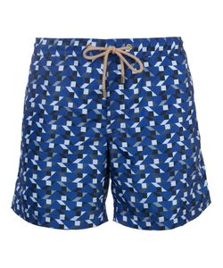 THORSUN | Geometric Print Swim Shorts