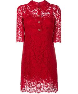 Dolce & Gabbana | Lace Dress With Embellished Buttons