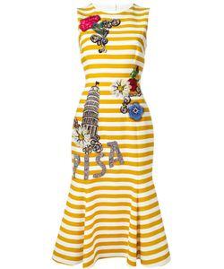 Dolce & Gabbana | Декорированное Полосатое Платье