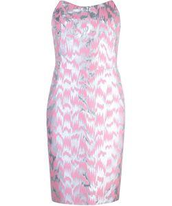 Jeremy Scott | Платье Без Бретелек С Жаккардовым Узором