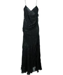 Saint Laurent   Вечернее Платье С Драпировкой