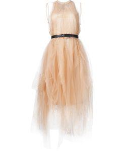 Vera Wang | Платье С Ремнем И Пышной Юбкой