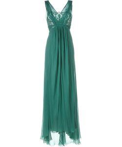 Alberta Ferretti | Длинное Платье С Кружевной Отделкой