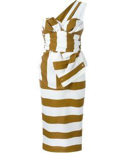 No21 | Полосатое Платье На Одно Плечо