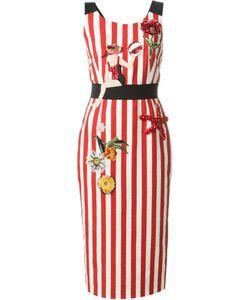 Dolce & Gabbana | Полосатое Декорированное Платье