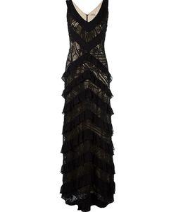MARTHA MEDEIROS | Lace Applique Maxi Dress