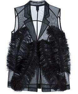 Vera Wang | Ostrich Feather Sheer Waistcoat