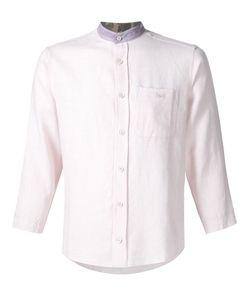 LONGJOURNEY | Рубашка С Контрастным Воротником-Стойкой