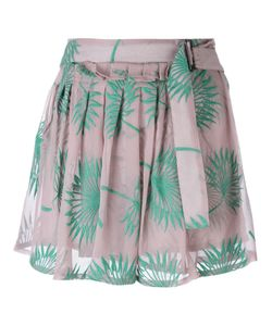 Ann Demeulemeester | Plants Motif Embroidered Shorts