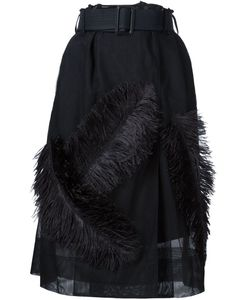 Vera Wang | Ostrich Feather Sheer Skirt