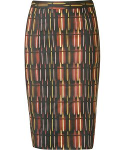 ANDREA MARQUES | Printed Midi Pencil Skirt