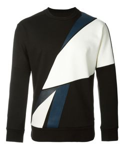 SYSTEM HOMME | Geometric Print Jumper