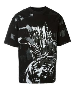 SYSTEM HOMME | Brush Print Camouflage Effect T-Shirt