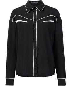 Rochas | Рубашка Row С Контрастной Окантовкой