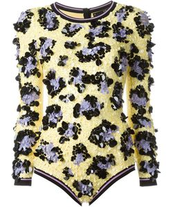 Sibling | Sequined Leopard Pattern Bodysuit