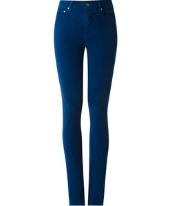 Amapô | High Waisted Velvet Skinny Trousers