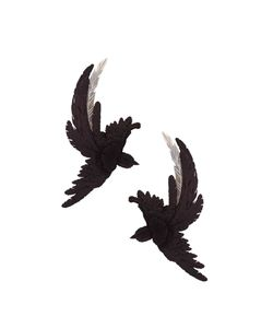 Olgafacesrok | Lucid Dream Metal Feather Bird Earrings