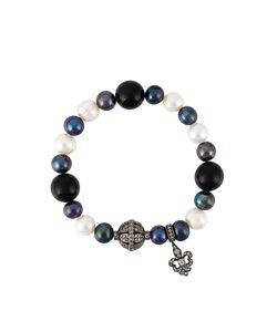 LOREE RODKIN | Diamond Charm And Pearl Bead Bracelet