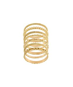 WOUTERS & HENDRIX GOLD | Set Of 7 Sculpted Rings