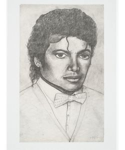 HOUSE OF VOLTAIRE | Литография Michael Jackson By Dawn Mellor